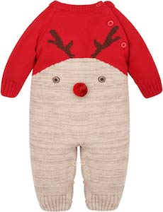 Christmas infant Reindeer Bodysuit
