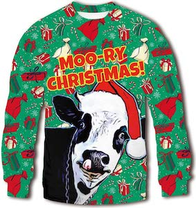 Moo-Ry Christmas Sweater