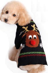 Reindeer Christmas Sweater For Your Dog