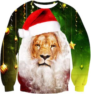 Santa Lion Christmas Sweater