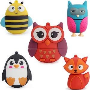 5 Cute Animal 8GB Flash Drives