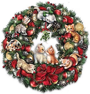 Cute Kittens Christmas Wreath