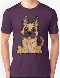 Cartoon German Shepherd T-Shirt