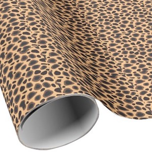 Cheetah Print Wrapping Paper
