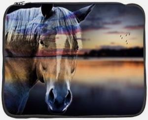 Reflective Horse Laptop Sleeve