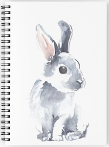 Watercolor Bunny Notebook