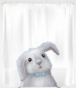 Funny Bunny Shower Curtain