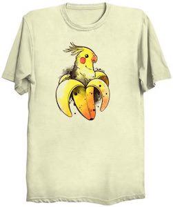 Parrot In A Banana T-Shirt