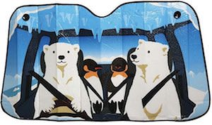 Polar Bear And Penguin Road Trip Car Sun Shade