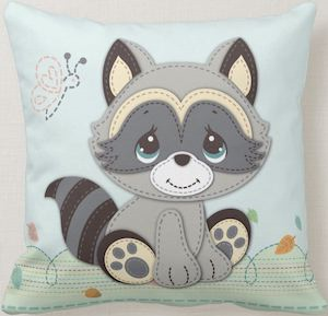 Cute Raccoon Pillow
