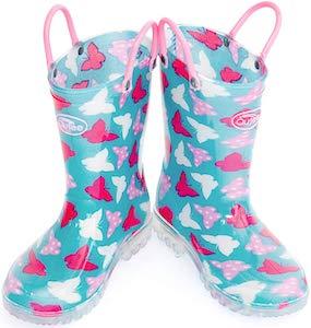 Kids Butterfly Rain Boots
