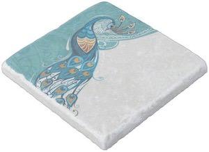 Stone Peacock Coaster