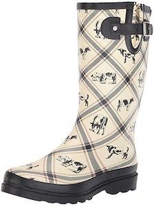 Cow Print Rain Boots