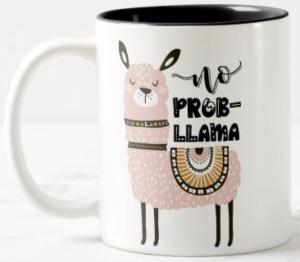 No Prob Llama Cute Llama Mug