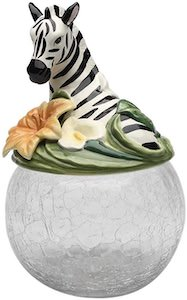 Zebra Cookie Jar