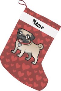 Personalized Pug Christmas Stocking