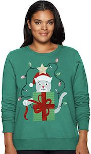 Cat Present Women's Christmas Sweater