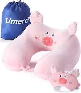 Pig Eye Mask And Travel Pillow Set