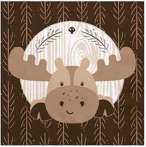 Moose Party Napkins