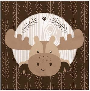 Moose Party Napkins