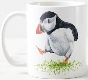Puffin In The Grass Mug