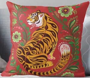 Red Tiger Pillow