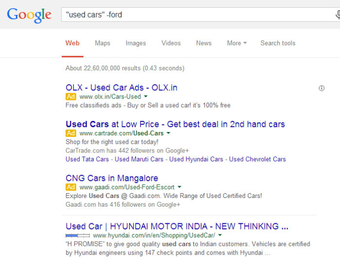 search-google-like-pro-exclude-word