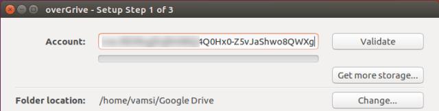 ubuntu overgrive paste unique code