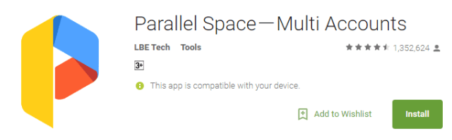 multiple facebook accounts on android install parallel space app