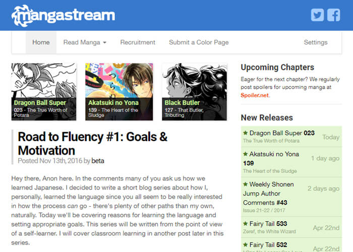 Best manga website - MangaStream
