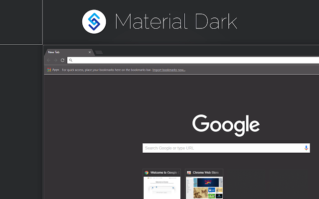 Dark theme for Google Chrome - Material Dark