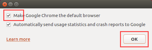 Google Chrome Ubuntu - make Google Chrome the default browser
