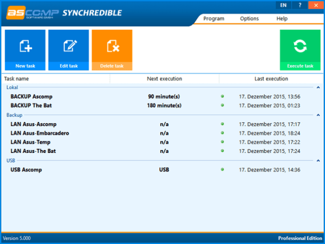 free file sync software - synchredible