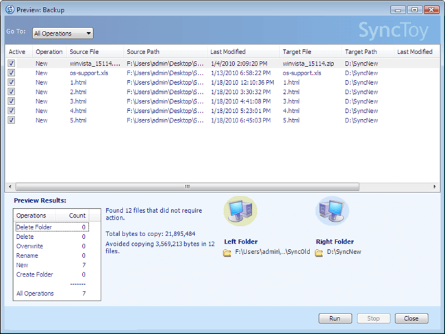 free folder sync software - synctoy