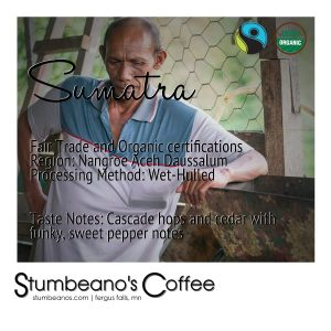 coffee sumatra fair trade organic aceh