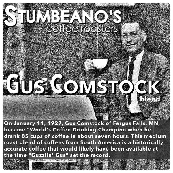 roasted coffee minnesota fergus falls gus comstock
