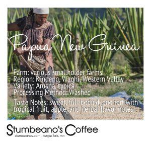 papua new guinea coffee kunjin