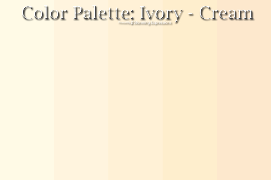 New Color Palette Ivory – Tan | – Stunning Expressions QS04