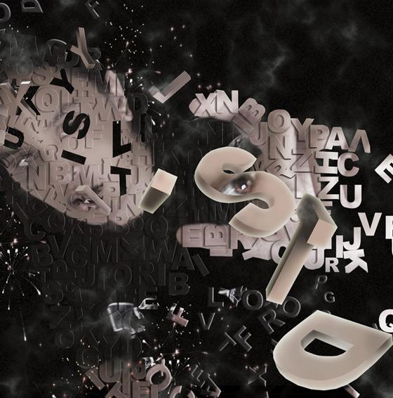 Stunningmesh typography Art