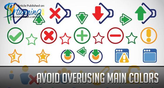 Avoid Overusing Main Colors