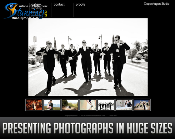 Presenting Photographs in Huge Sizes