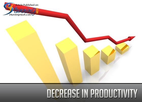 Decrease in Productivity