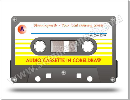 Vectorial Audio Cassette in Corel Draw