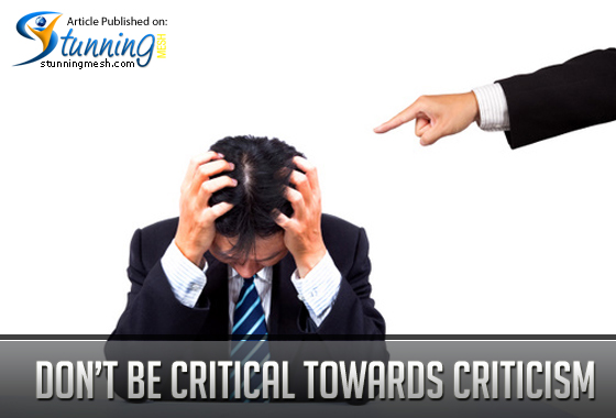 Don't be Critical towards Criticism