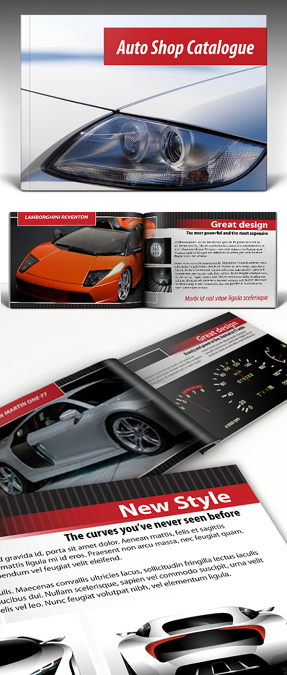 Free Auto Shop InDesign Catalogue