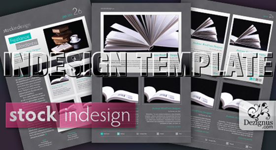Free Indesign template for magazine, bucket, ad poster, business letter