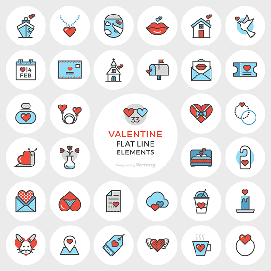 Valentine's Day Free icons