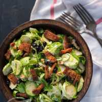 Paleo Brussels Sprouts, Blueberry & Bacon Salad Recipe
