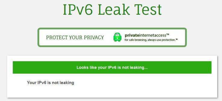 IPv6 Leak Test