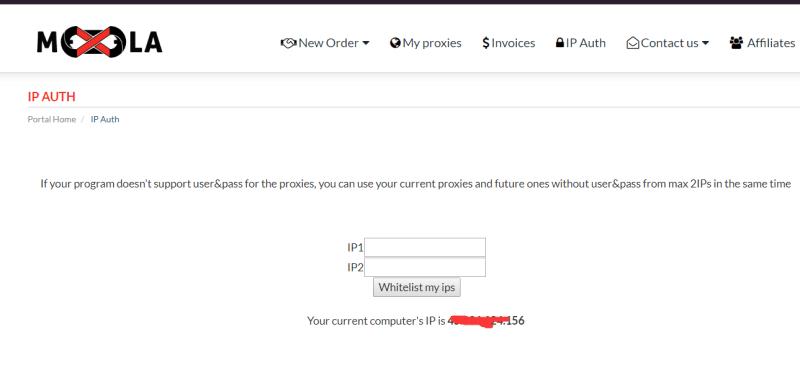 IP auth on mexela
